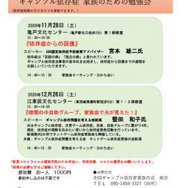 2020.11.28【東京】『依存症からの回復』ASK認定依存症予防教育アドバイザー宮本雄二氏